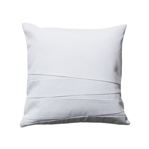 White throw pillow with stripes