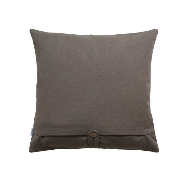 Grey back of throw pillow 20x20