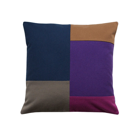 Pillow with color blocking design