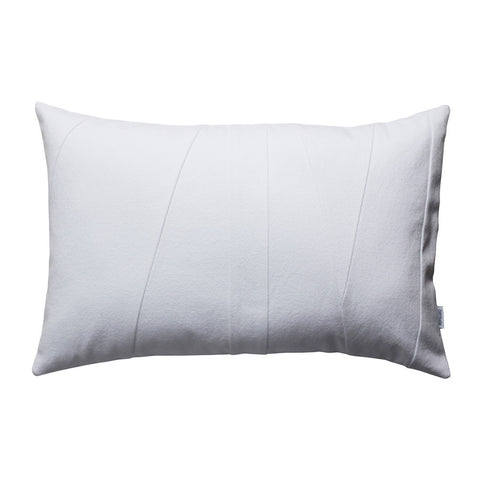 White lumbar throw pillow modern design