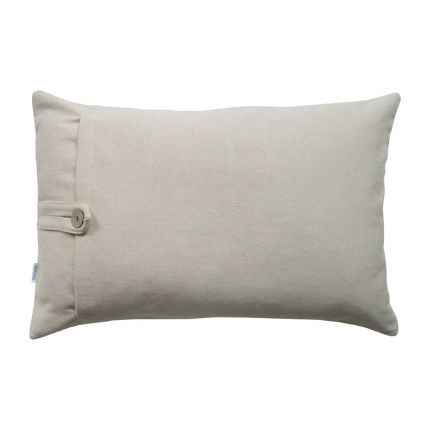 Neutral colored throw pillow lumbar
