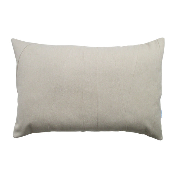 Lumbar throw pillow neutral colored