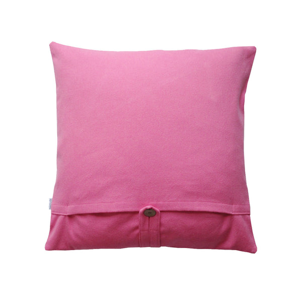 Purple colored throw pillow