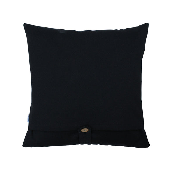 black pillow back side