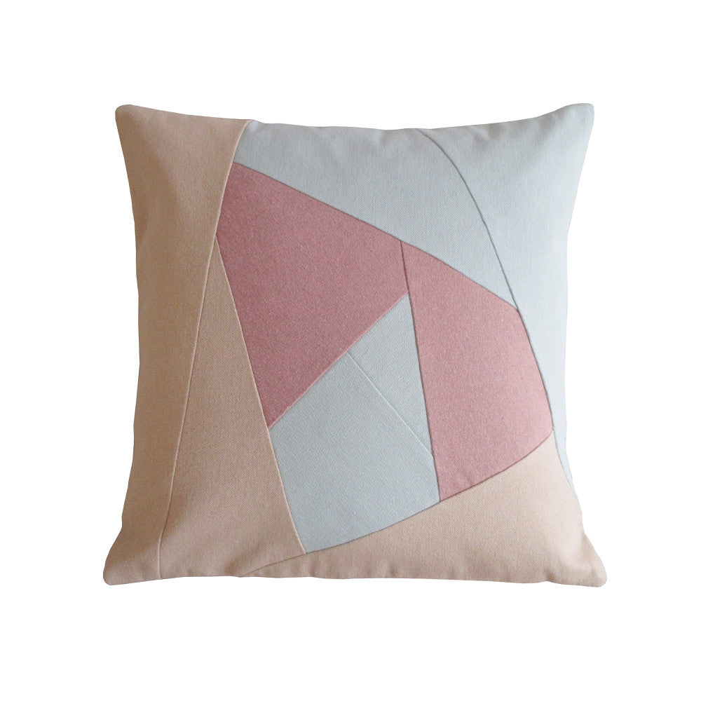 Beautiful throw pillow in pastel colors