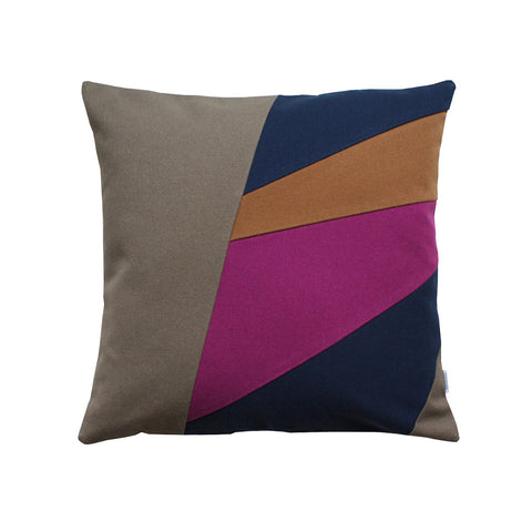 Throw pillow with asymmetrical pattern