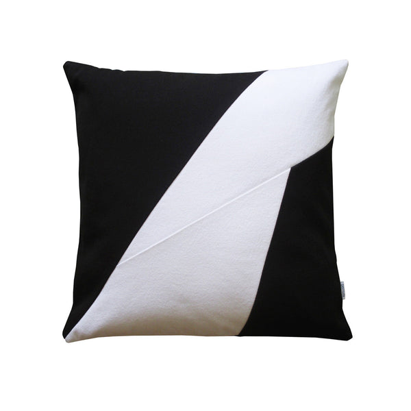 Black and white throw pillow modern design