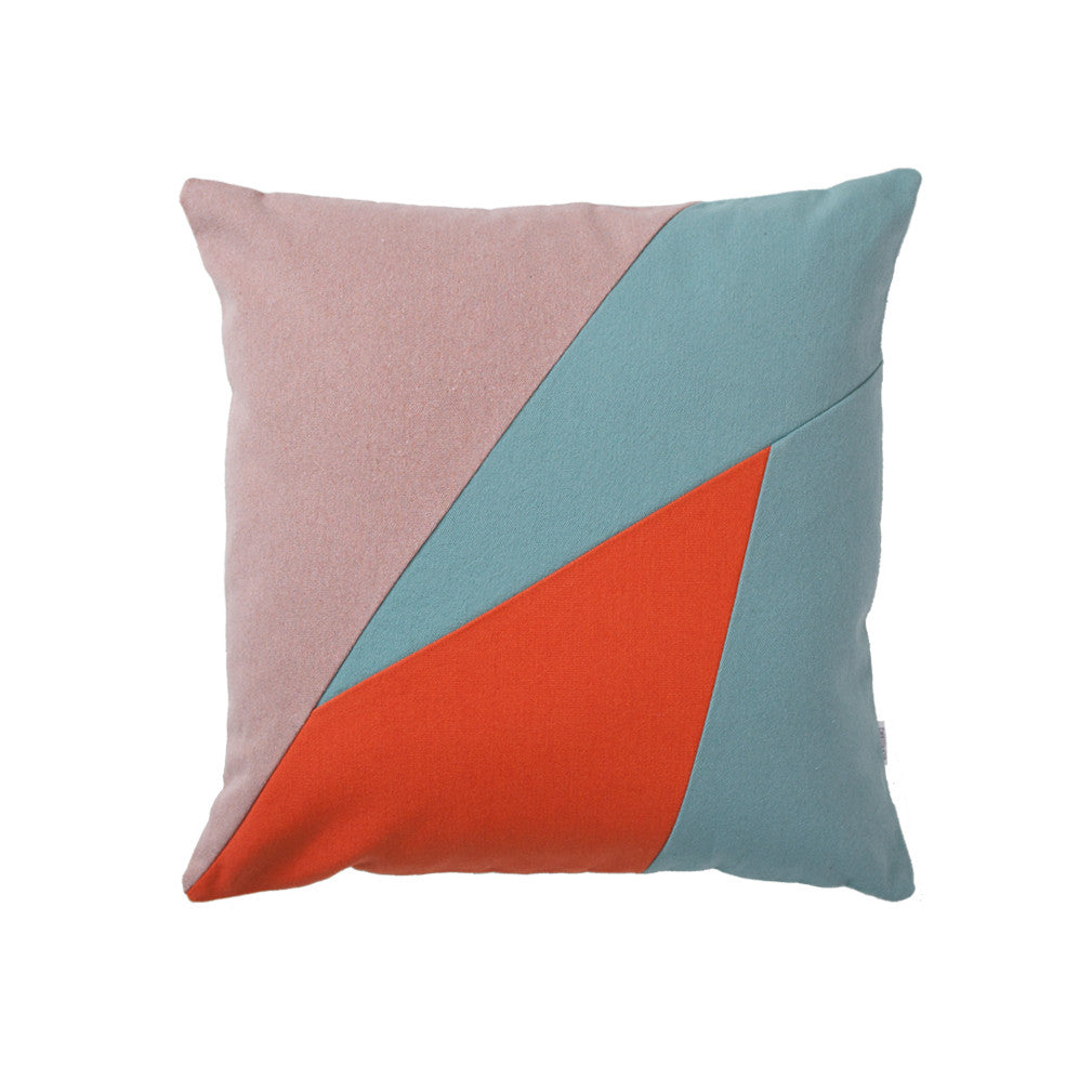 Teal throw pillow
