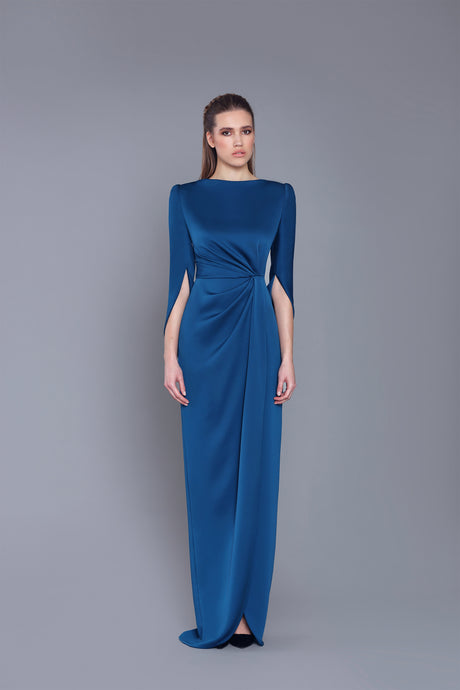HALF - CAPE LONG DRESS