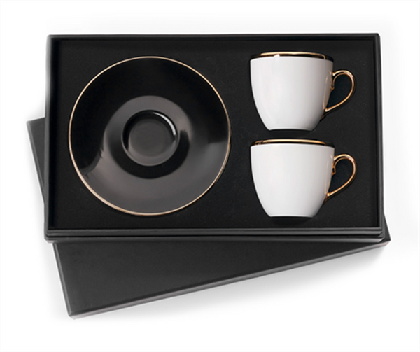 Classic Black Turkish Coffee Cups (Set of 2)