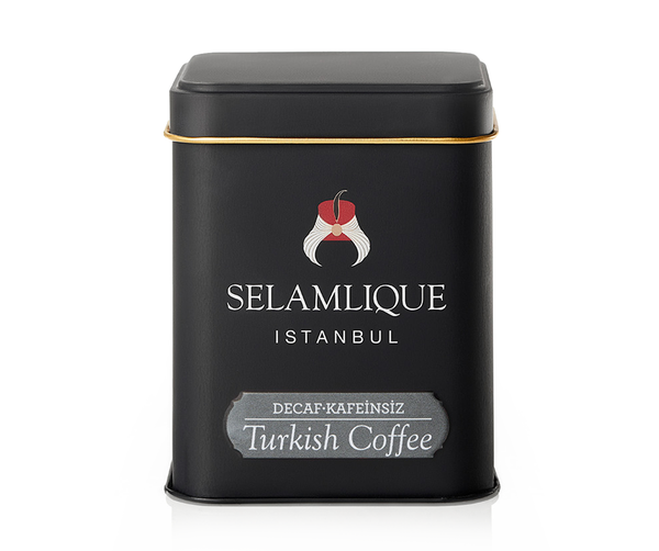 Selamlique Turkish Coffee, Decaffeinated Decaf Coffee, 125g net weight