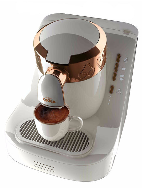 Arzum Okka Automatic Turkish & Greek Coffee Machine - White & Gold