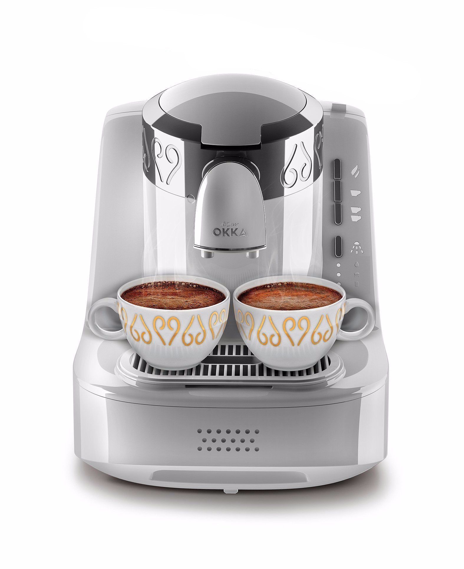 Arzum Okka Automatic Turkish & Greek Coffee Machine - White & Silver