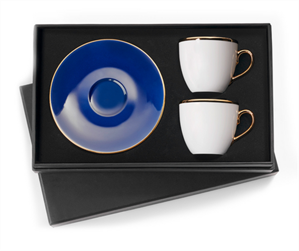 Classic Blue Turkish Coffee Cups (Set of 2)