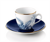 Porcelain Turkish Coffee Cups - 'Toile de Jouy' Design