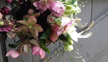 Vintage Pink, Mauve and Soft Grenn Hellebore Wedding Bouquets Joannes Winchester