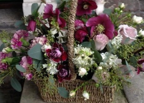 Vintage Hellebore Flower Arrangement Joannes Wedding Flowers