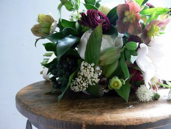 Hellebore Wedding Bouquet Joannes Vintage Flower Styling.