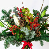 Lime Green and Red Berries Christmas Bouquet Joannes Florist Winchester