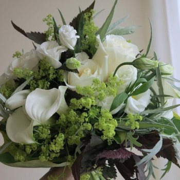 Caledon - Luxury White Rose  / Lisianthus Bouquet.