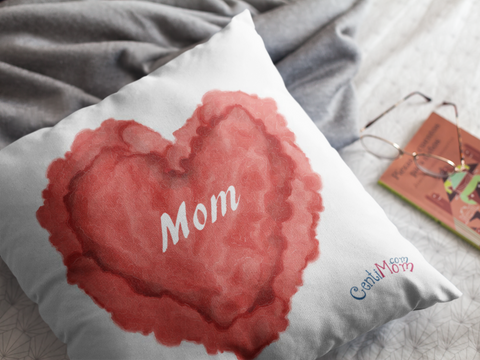 Mom Heart Pillow Gift Love