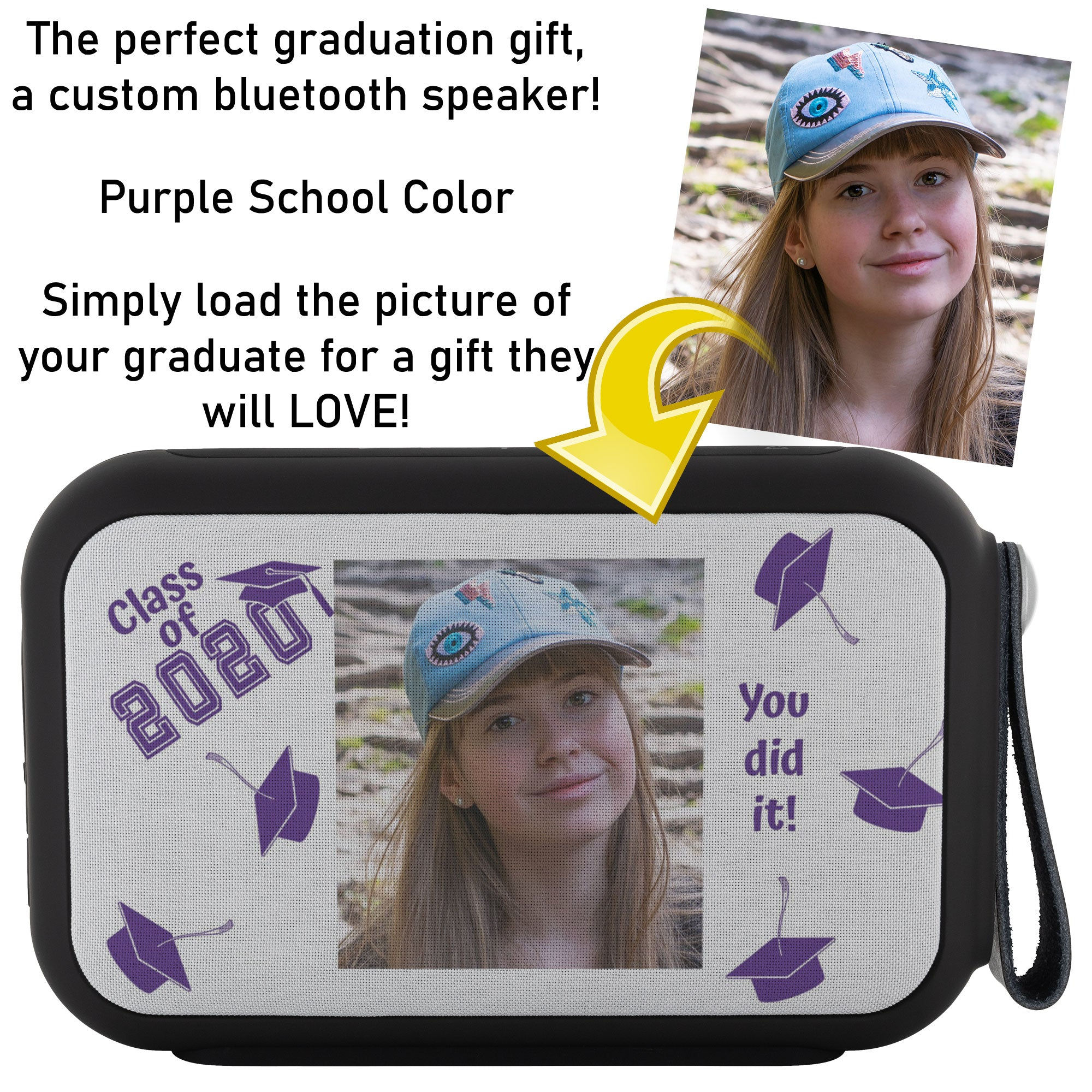 Custom Thumpah Speaker Class of 2020 School Purple