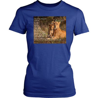 I Love You, Mom - Lion T-Shirt & Hoodie