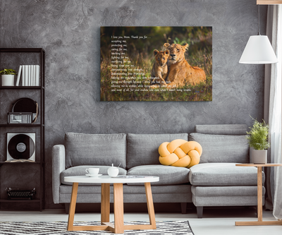 I Love You, Mom - Lion & Cub, Canvas