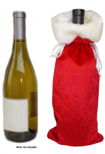 Christmas Holiday Wine Liquor Gift Bags, Standard Size (2 bags)