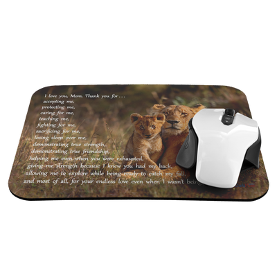 I Love You, Mom - Lion Mouse Pad