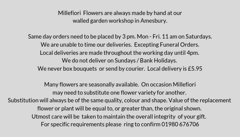 Funeral flowers for delivery to Bishopsdown - local florist Millefiori Flowers