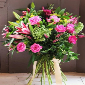 Nicola - Pink Rose and Lily Bouquet.