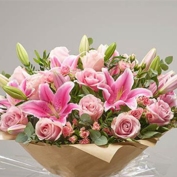 Bette - Pink Rose and Lily Bouquet