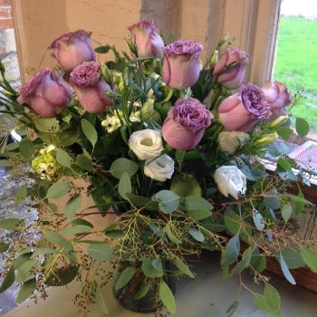Vintage Pink Roses Hand Tied Bouquet