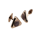 Rose Gold Zircon Cufflinks