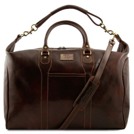 Tuscany Leather AMSTERDAM Travel leather weekender bag