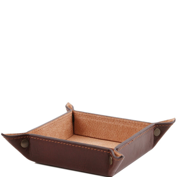 Exclusive leather valet tray small