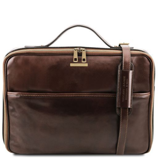Tuscany Leather VICENZA  Leather Laptop Briefcase with zip closure
