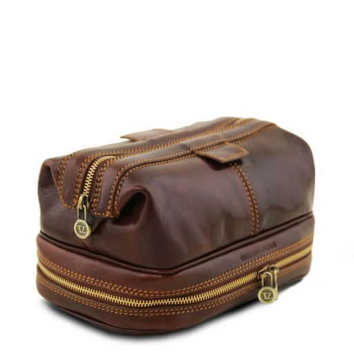 Tuscany Leather PATRICK  Leather Wash Bag