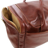 Tuscany Leather TL VOYAGER  Travel Leather Bag with side pockets - Large