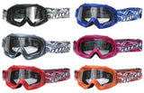 KIDS YOUTH WULFSPORT CUB ABSRACT GOGGLES FOR DIRT / QUAD BIKE - Orange Imports - 1
