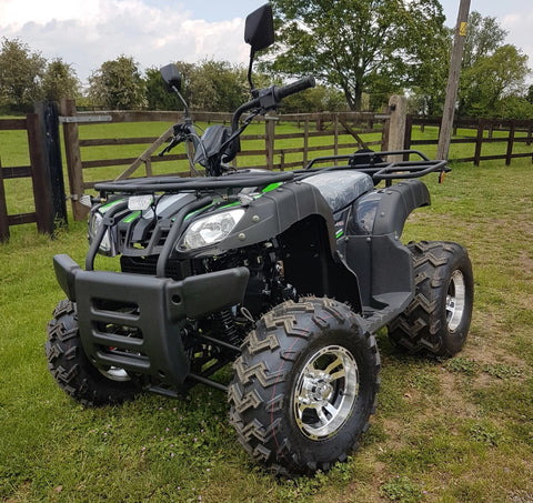 BASHAN BLACK  BS200AU-11B 200CC ROAD LEGAL QUAD BIKE ATV EURO 4 2019 MODEL FULLY AUTO