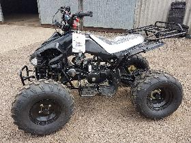 "BLACK CHEETAH 110CC QUAD BIKE BY TAO TAO 4 STROKE AUTOMATIC WITH REVERSE 8"" TYRES"
