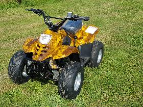 JLA-02 YELLOW 110CC 4 STROKE FARM STYLE QUAD BIKE AUTOMATIC, ELECTRIC START & REVERSE