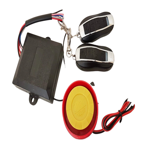 ALA01 MOTORBIKE SCOOTER QUAD BIKE ALARM 125DB 12V WITH 2 X REMOTE SWITCH
