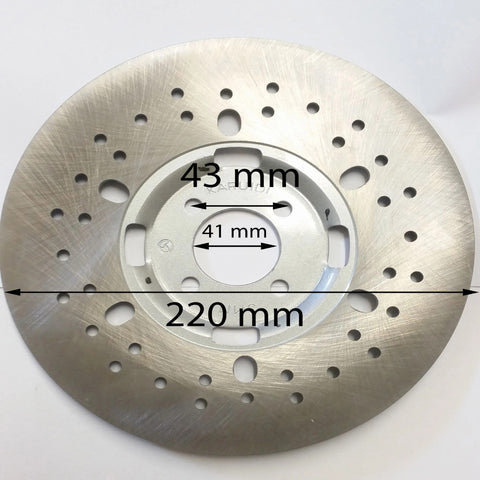 BD020 REAR BRAKE DISC 220MM FOR HAILI 350 QUAD BIKE ATV - Orange Imports - 1