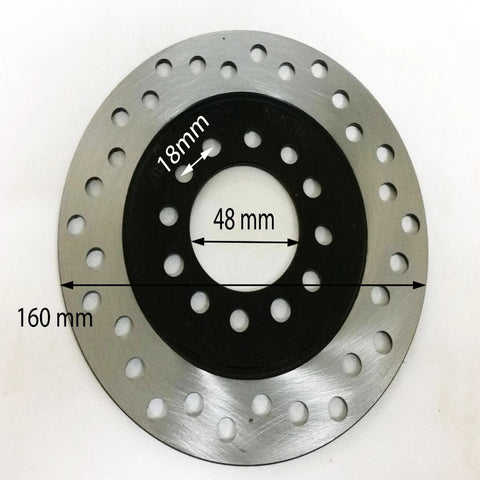 BD022 160MM REAR BRAKE DISC 160MM X3MM FOR 70CC/90CC/110CC QUAD BIKE ATV - Orange Imports - 1
