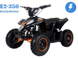 A-800W ELECTRIC MINI QUAD BIKE, WITH REVERSE 3 SPEED,ORANGE & BLACK, GREEN & BLACK