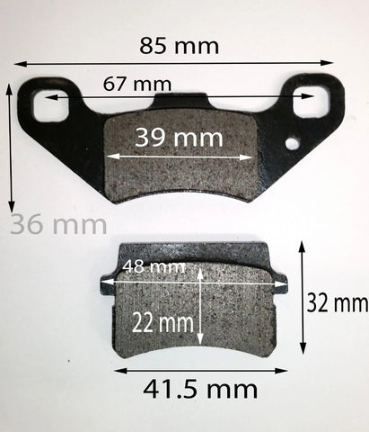 BP023 FRONT BRAKE PADS FOR BASHAN BS250S-11B 250CC QUAD BIKE - Orange Imports - 1