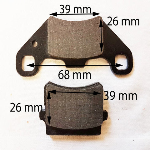BP026 SET OF BRAKE PADS FRONT / REAR 150CC 200CC I-GO UTILITY FARM QUAD BIKE ATV - Orange Imports - 1